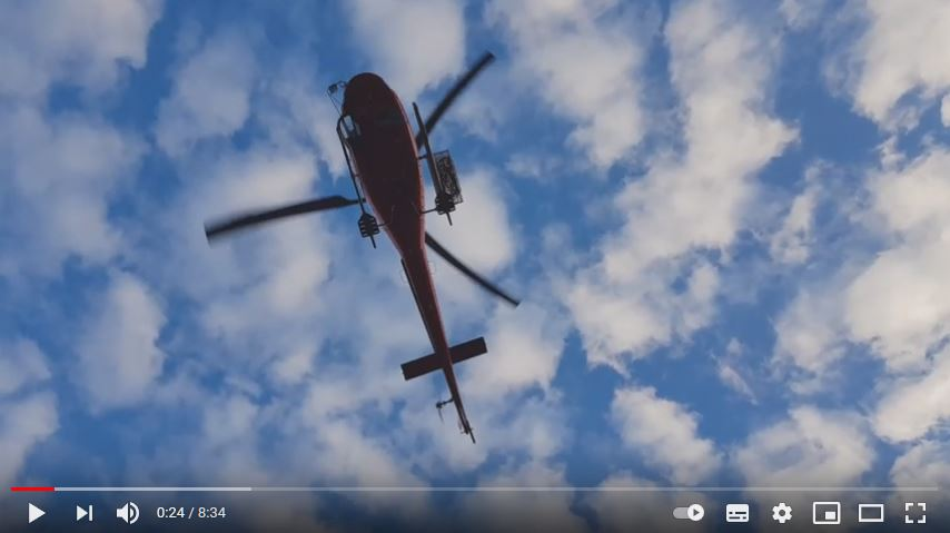 L'elicottero di Heli austria in volo