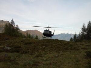 atterraggio dell'elicottero al rendez-vous