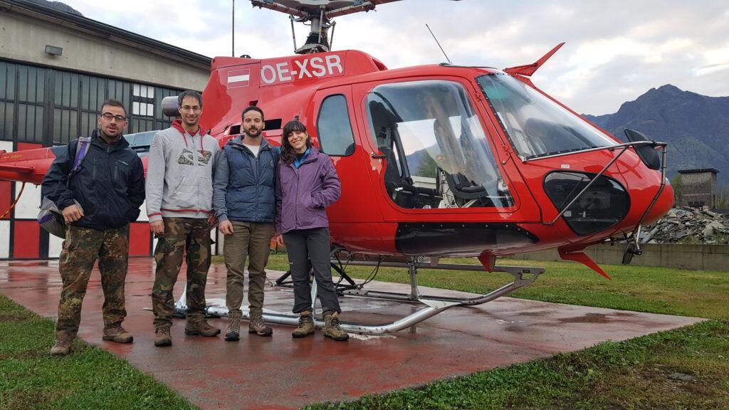Spedizione in elicottero per la ricerca della galleria fantasma